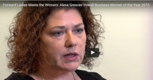 Video: Meet the Winners: Alexa Greaves overall Business Women of the Year 2015