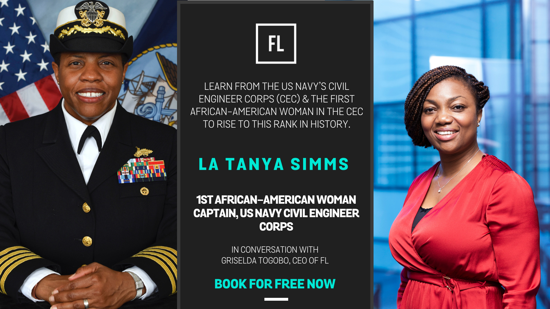 In Conversation with La Tanya Simms,1st African-American Woman Captain, US Navy Civil Engineer Corps
